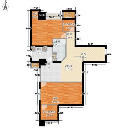 世家名门2室0厅1卫1厨111.80㎡户型图