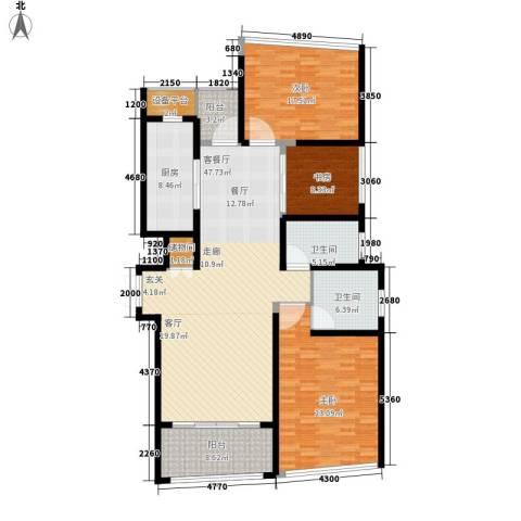 保利达江湾城3室1厅2卫1厨149.00㎡户型图