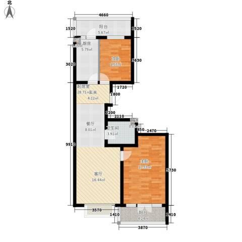 红旗MALL2室0厅1卫1厨74.52㎡户型图