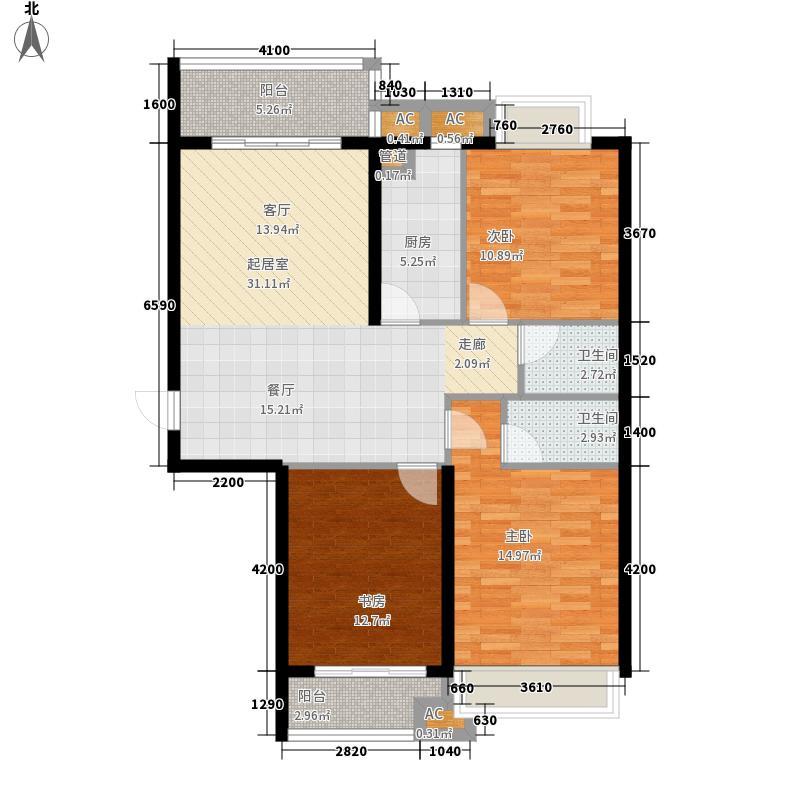 平阳府第125.00㎡平阳府第户型图2#C户型3室2厅2卫1厨户型3室2厅2卫1厨