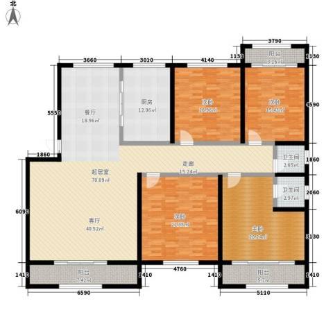 天一康园4室0厅2卫1厨202.00㎡户型图