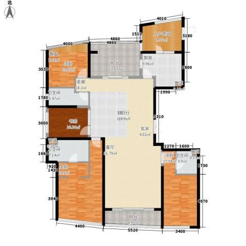 保利达江湾城4室1厅3卫1厨215.00㎡户型图