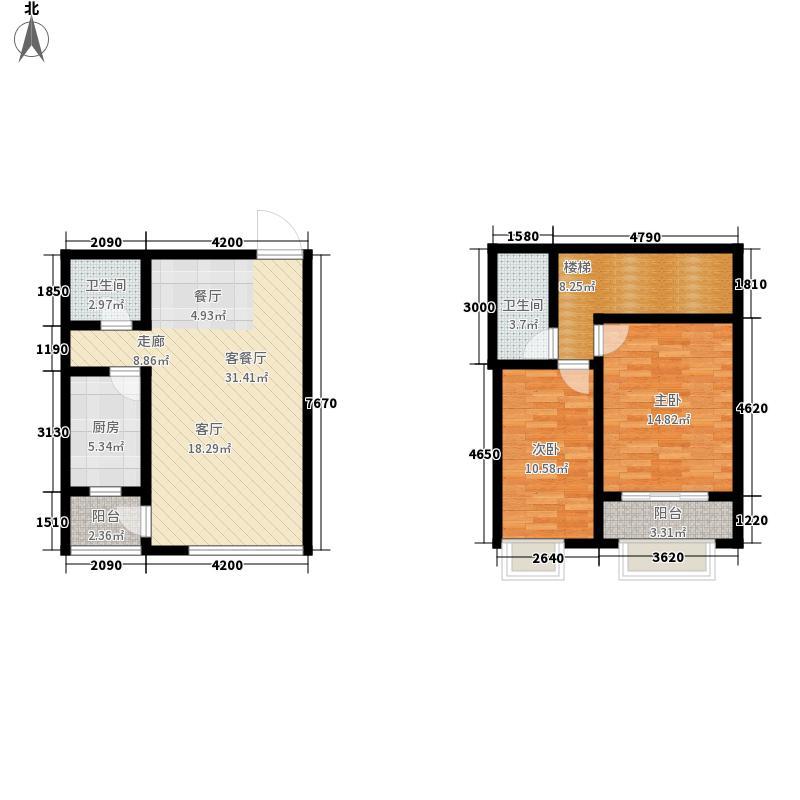 紫光绅苑二期120.92㎡经典跃层户型2室2厅2卫1厨