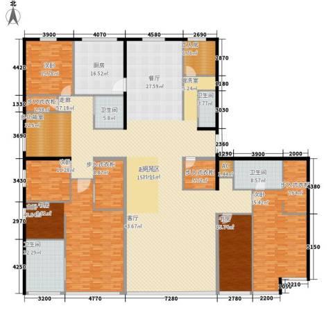 星海大观(沿海国际中心二期)5室0厅4卫1厨470.00㎡户型图