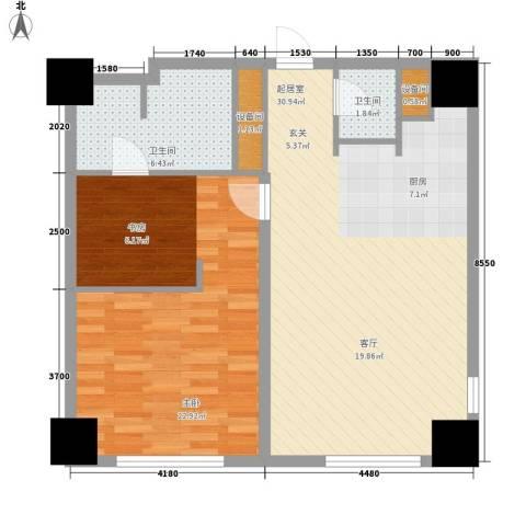 赞成美林1室0厅2卫0厨99.00㎡户型图