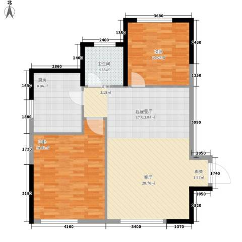 泓泰国际2室0厅1卫1厨114.00㎡户型图