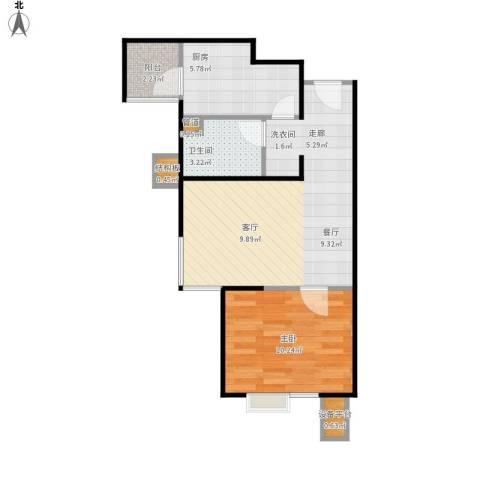 北京北1室1厅1卫1厨58.00㎡户型图
