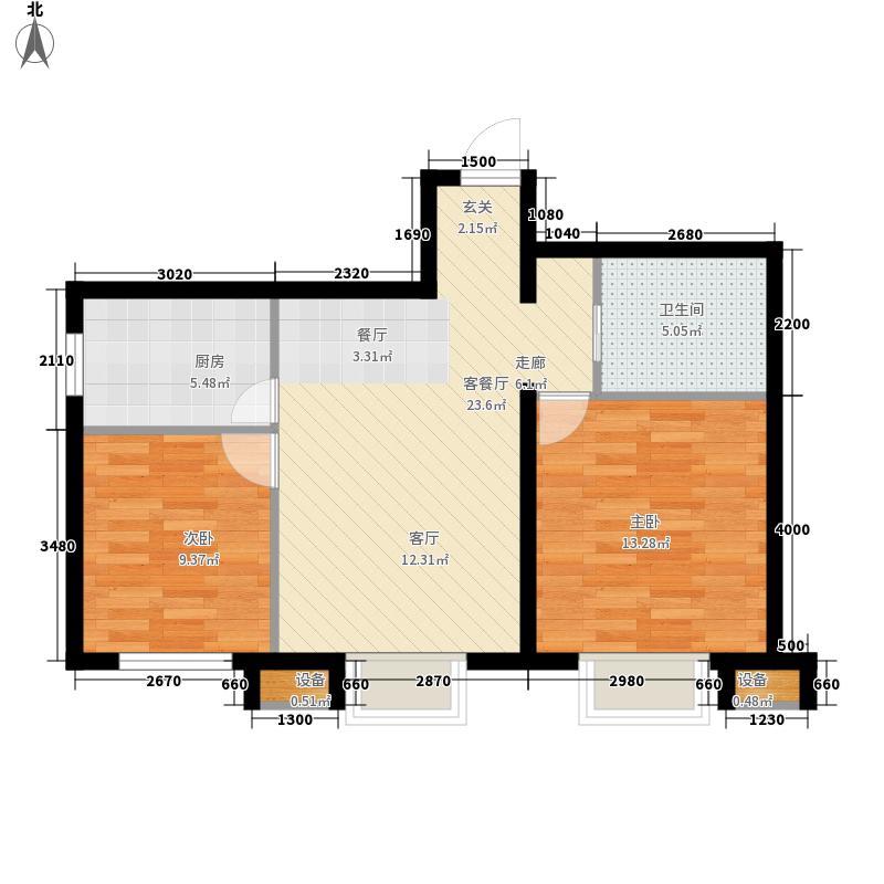 龙之梦畅园85.67㎡C户型2室2厅