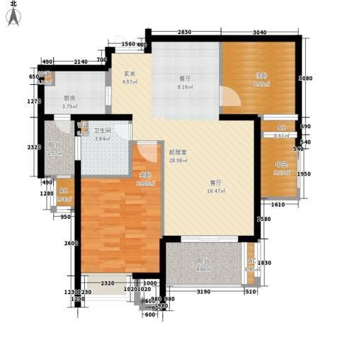 融侨锦江2室0厅1卫1厨89.00㎡户型图