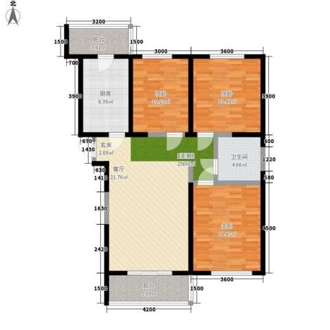 虹畔馨苑3室0厅1卫1厨127.00㎡户型图