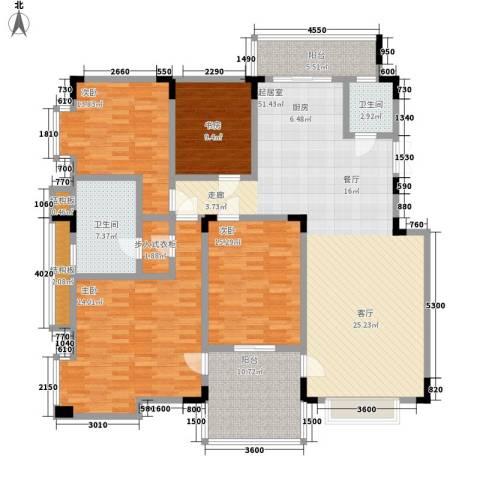 虹畔馨苑4室0厅2卫0厨206.00㎡户型图