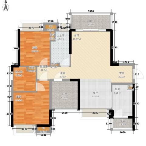 保利西雅图3室0厅1卫1厨100.00㎡户型图