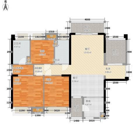 保利西雅图3室0厅2卫1厨120.00㎡户型图