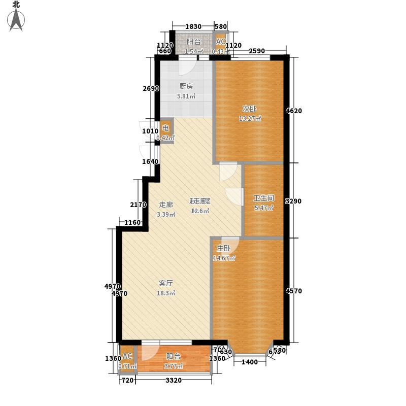 挪威森林88.09㎡挪威森林户型图户型图2室2厅1卫1厨户型2室2厅1卫1厨