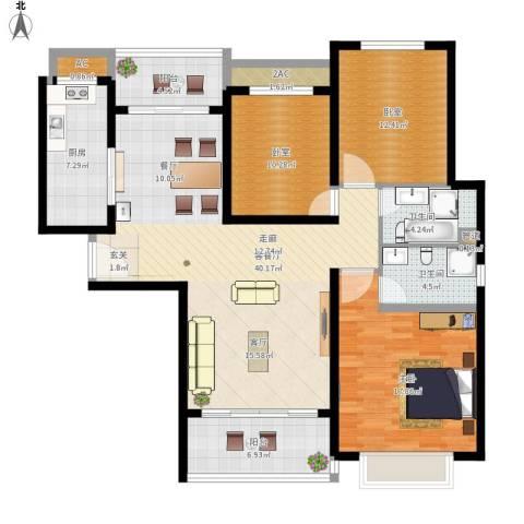 西安・恒大御景1室1厅2卫1厨159.00㎡户型图