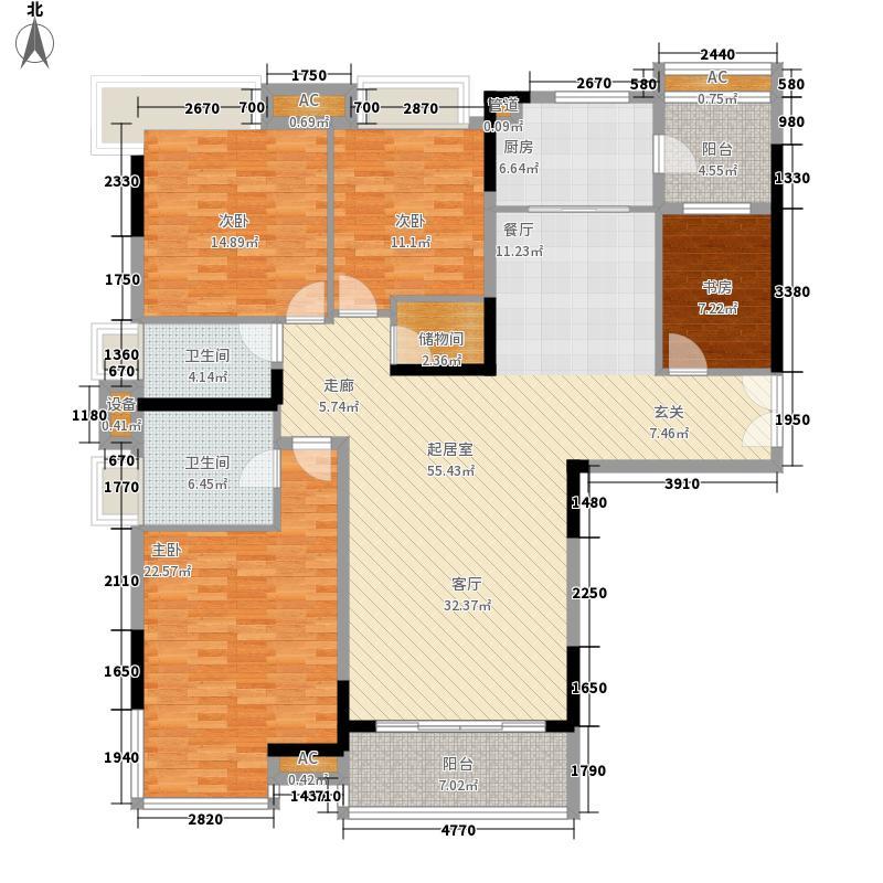 合生湖山国际179.28㎡B型维也纳山林2期02号单位户型4室2厅