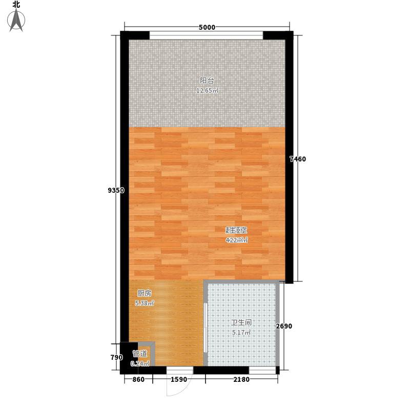 同方世纪大厦45.93㎡同方世纪大厦户型图L户型1室1卫户型1室1卫