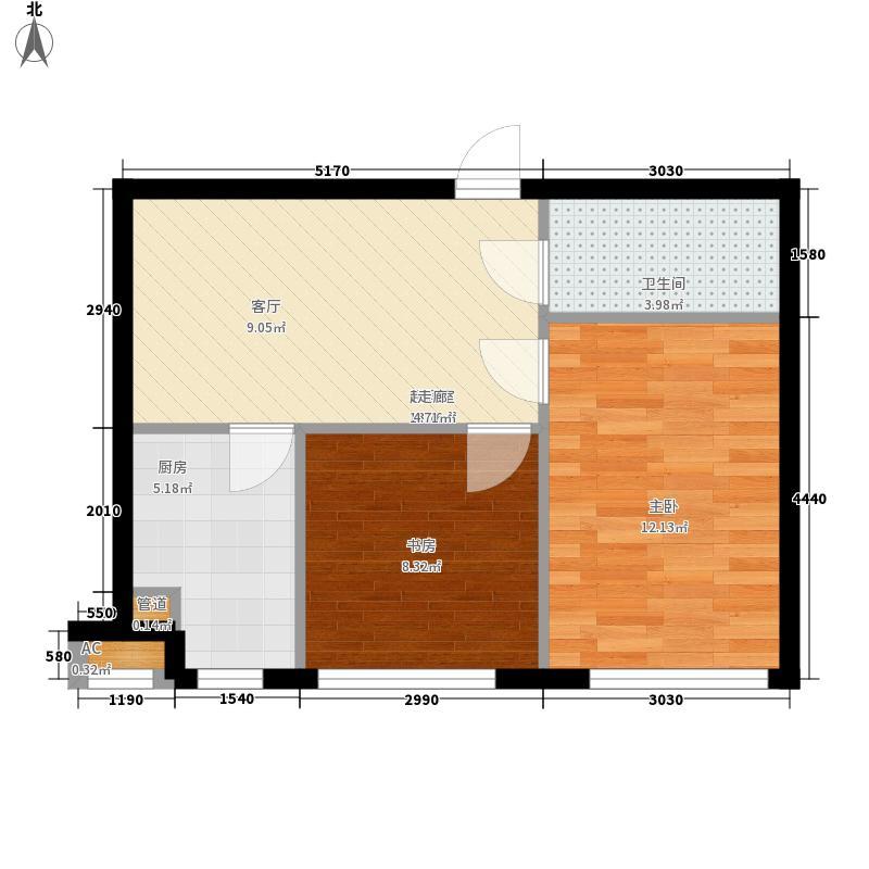同方世纪大厦60.24㎡同方世纪大厦户型图C8户型2室2厅1卫户型2室2厅1卫