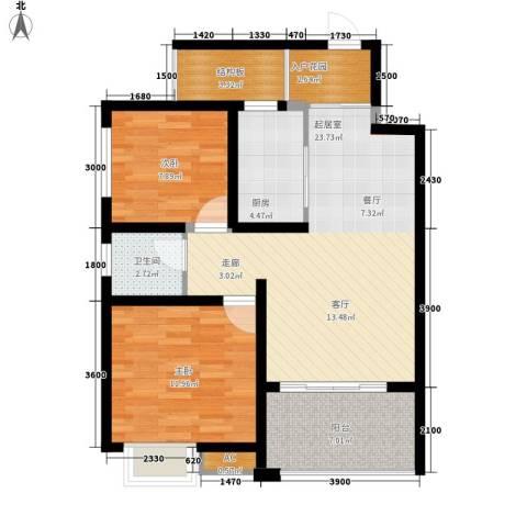 家天下晶品2室0厅1卫1厨94.00㎡户型图