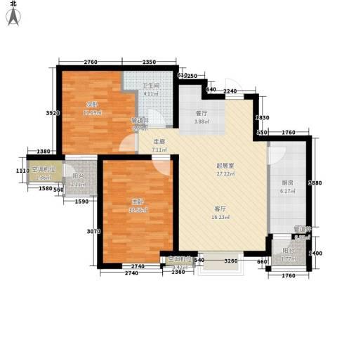 明湖・白鹭郡2室0厅1卫1厨78.00㎡户型图