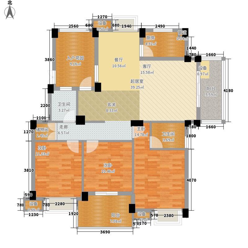 世欧彼岸城128.00㎡世欧彼岸城3室户型3室