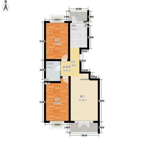 红旗MALL2室0厅1卫0厨79.79㎡户型图