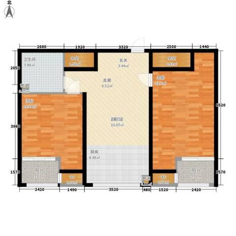 无名大厦2室0厅1卫0厨98.00㎡户型图