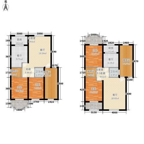 亿丰广场4室2厅2卫2厨229.00㎡户型图