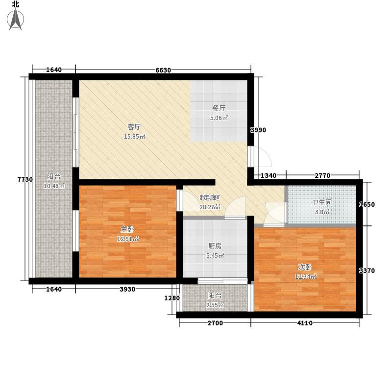 和美家苑8.00㎡2号楼C户型2室1厅1卫1厨