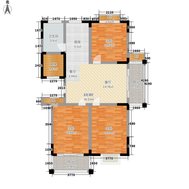 泾和苑120.00㎡泾和苑户型图多层A3户型3室2厅2卫1厨户型3室2厅2卫1厨