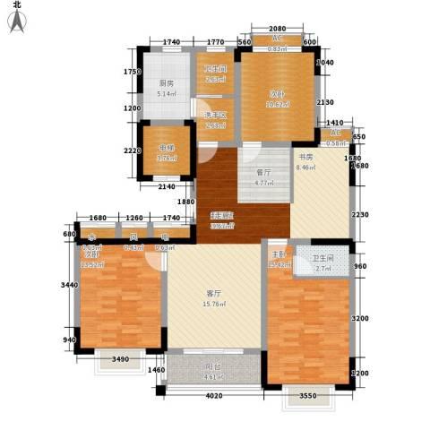 泾和苑3室0厅2卫1厨120.00㎡户型图