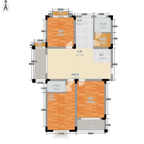 泾和苑3室0厅2卫0厨120.00㎡户型图