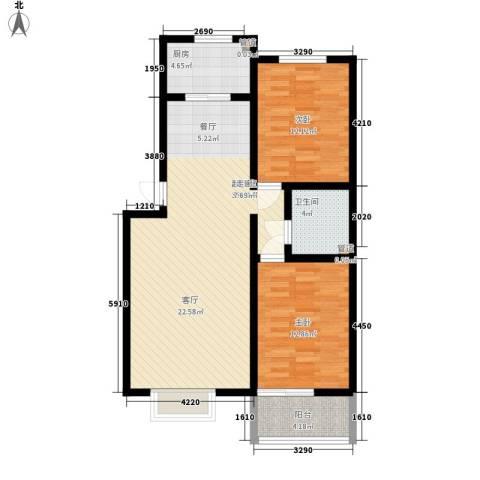 武铁向阳小区2室0厅1卫1厨105.00㎡户型图