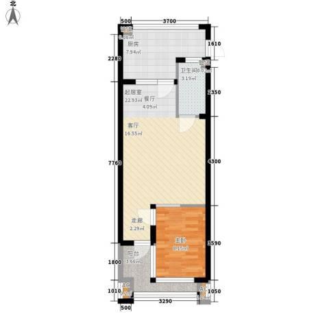 三亚小院1室0厅1卫1厨68.00㎡户型图