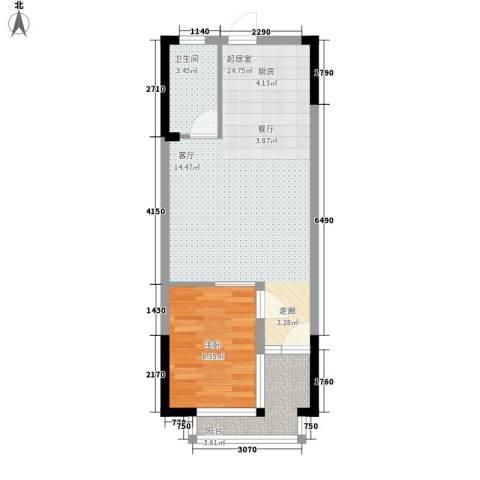 三亚小院1室0厅1卫0厨58.00㎡户型图