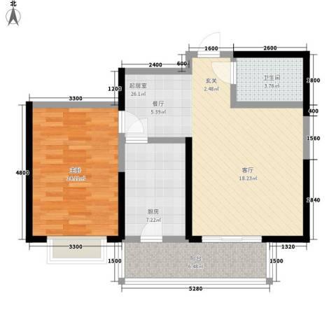 虹畔馨苑1室0厅1卫1厨82.00㎡户型图