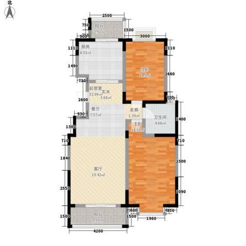 虹畔馨苑2室0厅1卫1厨119.00㎡户型图