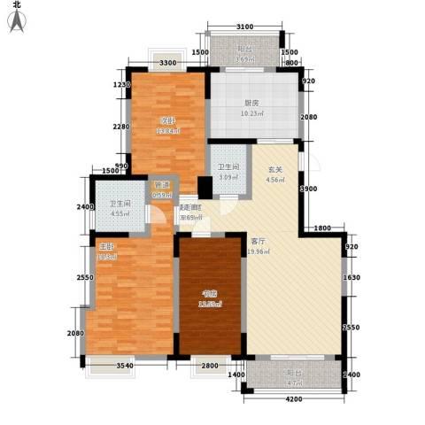 虹畔馨苑3室0厅2卫1厨148.00㎡户型图