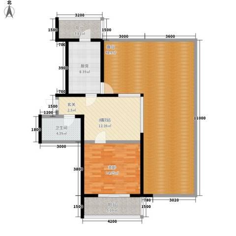 虹畔馨苑1室0厅1卫1厨139.00㎡户型图