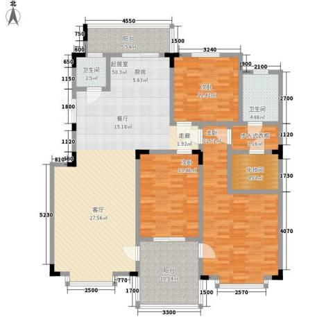 虹畔馨苑3室0厅2卫0厨181.00㎡户型图