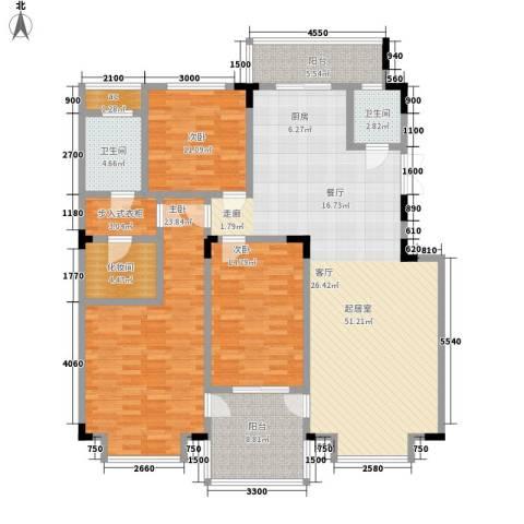 虹畔馨苑3室0厅2卫0厨186.00㎡户型图