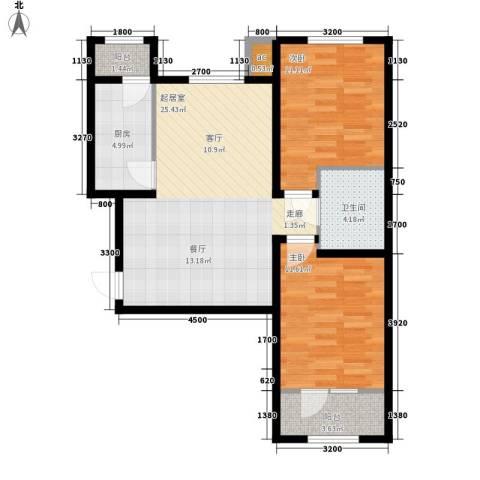 佳和雅庭2室0厅1卫1厨82.00㎡户型图