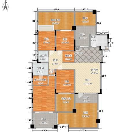 中航城4室0厅2卫1厨202.39㎡户型图