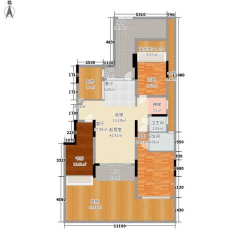 中航城3室0厅2卫1厨171.82㎡户型图