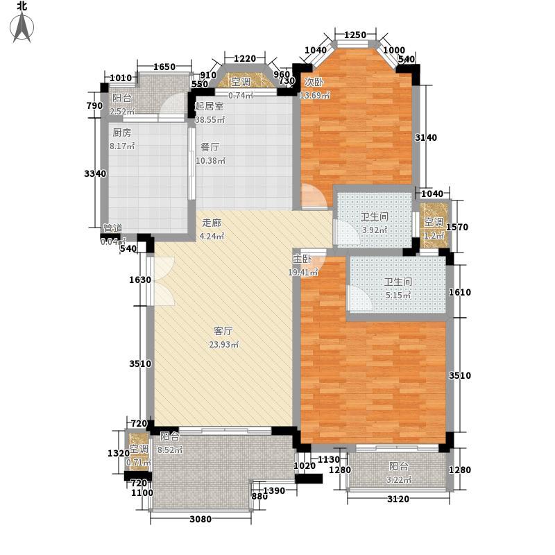 银丽高尔夫公寓121.52㎡239#240#241#242#低层标准层B户型
