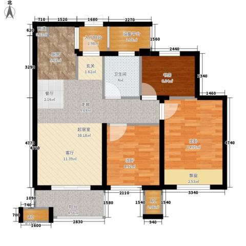 金色家园3室0厅1卫0厨88.00㎡户型图
