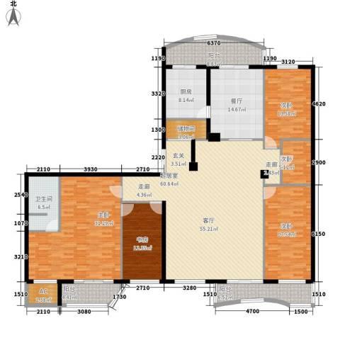 中央经典5室1厅1卫1厨217.00㎡户型图