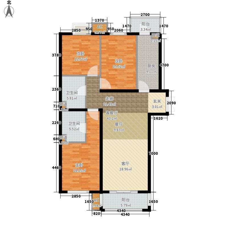 行宫·御东园136.44㎡行宫・御东园1号楼C3户型
