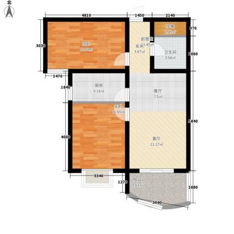 义井化二建宿舍2室0厅1卫1厨91.00㎡户型图