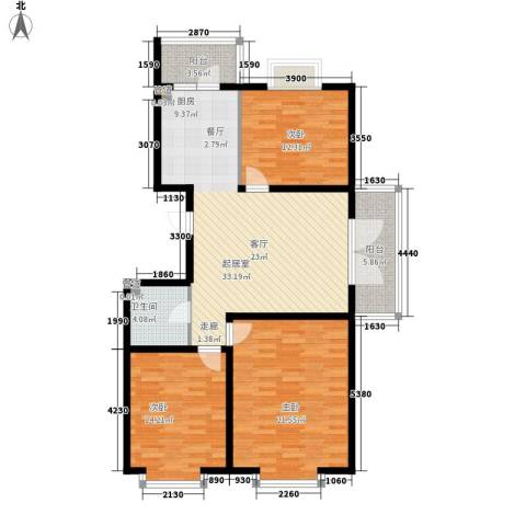 红旗MALL3室0厅1卫0厨94.80㎡户型图